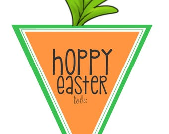 Easter Tags – Easter Gift Tags – Easter Printable Tags – Hoppy Easter – Instant Download – Digital Easter – Bunny Tag – Carrot Easter Tag