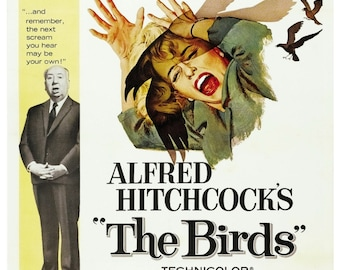 TB02 Vintage The Birds Movie Poster Print