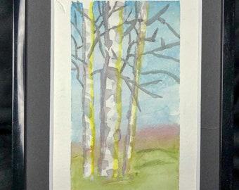 Aspens - Original Watercolor Painting