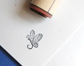 Big Wing Dragonfly Rubber Stamp
