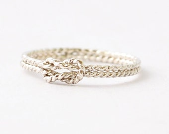 Nautical Rings: Silver Sailors Knot, Mothers Day Gifts Under 25