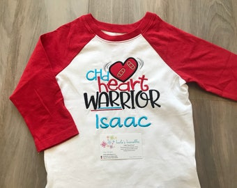 CHD Heart warrior shirt, CHD awareness for girls or boys