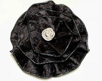 Black Velvet Kippah, Velvet Yarmulke, Kippot For Women, Woman's Skull Cap