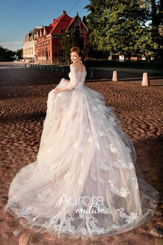 Hochzeitskleid LIBRE Brautkleider a-Linie Brautkleider