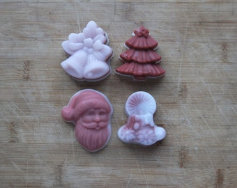 Our 4 Christmas soaps assortment