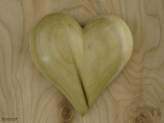 "I Love YOU   ""Beautiful"" Poplar Wall Heart   Bentworx™"