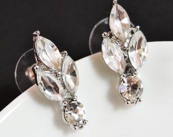 Vintage Rhinestone Stud Earrings, Post Earrings, Crystal Stud Earrings, Wedding Earrings, Bridal Earrings, Bridesmaid Gifts