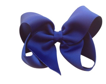 Navy blue hair bow - hair bows, bows, hair bow for girls, girls bows, girls hair bows, toddler bows, boutique bows, hairbows, bow, hair clip