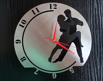 Clock dance Tango couple dancer stainless steel wall Hauptmarkt design Wall Clock Love