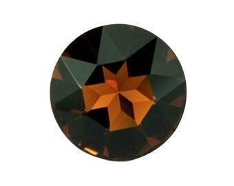 Swarovski elements round Smoked topaz 27 mm