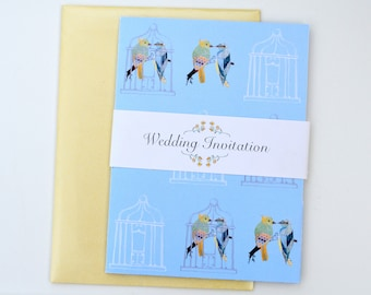 Birds and Bird Cages Wedding Stationery- Sample