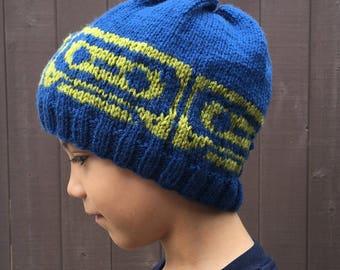 Knitting Pattern ~ Knit Mix Tape Beanie ~ Knitting Pattern