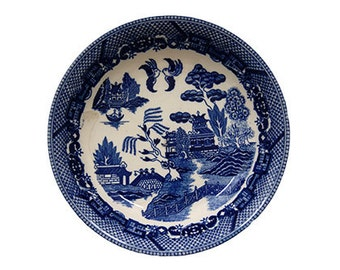 Antique Blue Willow Bowl