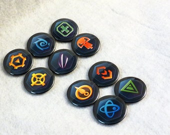 """WS/Wildstar: Class and Path Pins (Pick your buttons) 1.5"""""""