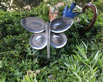 Butterfly Garden Art created from old cutlery