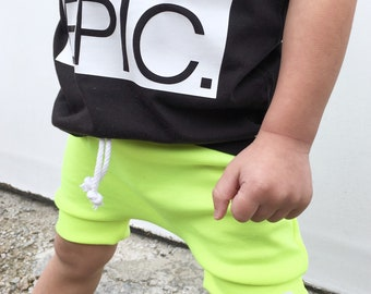 Chartreuse Neon Harem Shorts