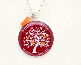 Family Tree Necklace   Custom Family Necklace   Gift for Mom   Gift for Her   Personal Gift   Family Tree Pendant   Custom Pendant