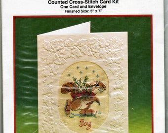 Current Critters Fiddlesticks Counted Cross Stitch Card Kit