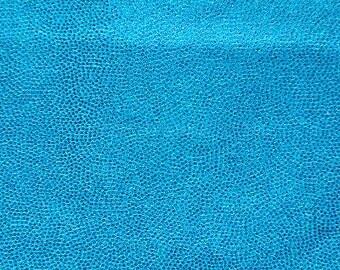 Swimwear Fabric Blue/Blue Fog Foil Tricot Knit Fabric for Swimwear Activewear Dancer apparel and Sportswear - 1 Yard Style 7002