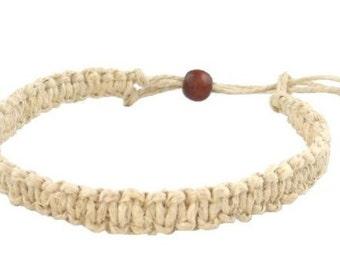Handmade Lock Style Hemp Bracelet or Ankelet