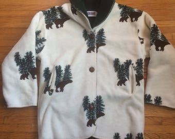 Vintage Country Woods Bears in the Woods Super Heavyweight Warm Button Up Jacket