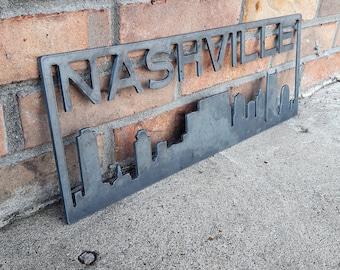 Nashville Skyline - Metal Sign - Custom Metal Sign