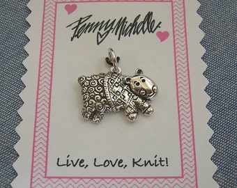 Sterling Sheep in Sweater Charm for Knitters