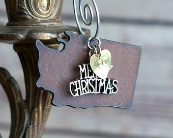 WASHINGTON Christmas Ornament, WASHINGTON Ornament, Christmas Gifts 2018 Christmas Ornaments, Personalized Gift for Her WASHINGTON Ornaments