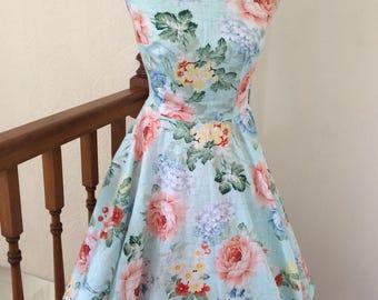 Handmade 1950's style dress wedding prom bridesmaid size 8