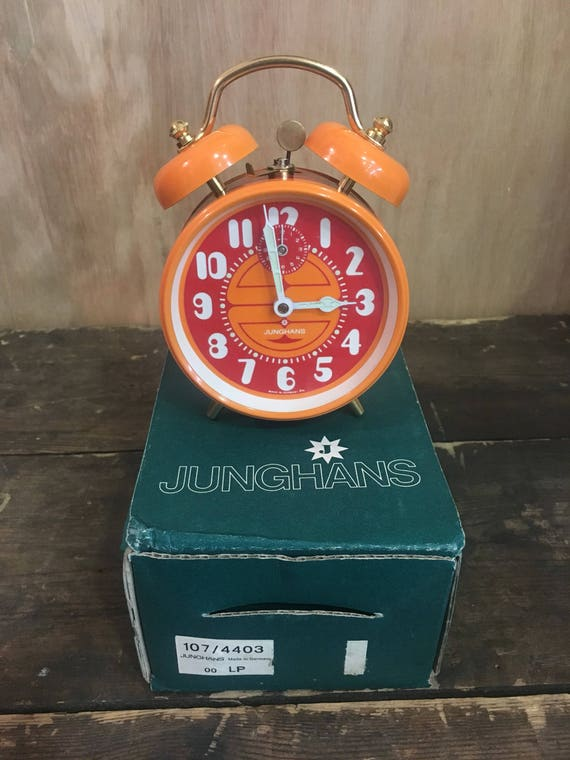 Junghans West German 1970's Wind Up Alarm Clocks