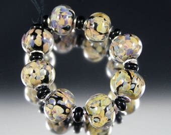 Jitterbug - Handmade Lampwork Glass Bead Set by That Bead Girl