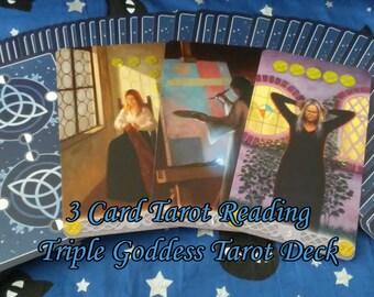 3 Card Tarot Reading with the Triple Goddess Tarot Deck