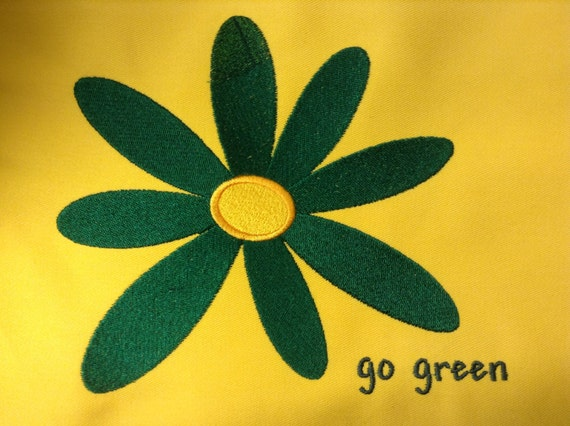 Go Green Flower 3 Pocket Apron with Custom Color Combinations for Flower/Apron made in USA!