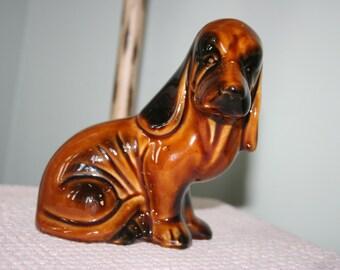 Brown Ceramic Dachshund, MCS Figure Brazil, Vintage Dachshund Figurine