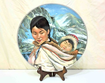 Northern Lullaby from People of the Midnight Sun by Nori Peter Vintage Porcelain Plate 1978