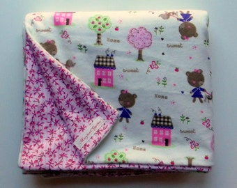 Home Sweet Home Baby Blanket, Large and  Doublesided