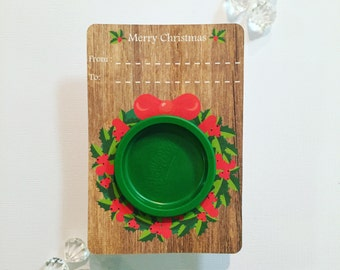 Wreath playdoh cards