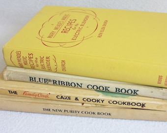 Old book journal--you choose the book // Cook Books // Recipe Books // Recycled Book by PrairiePeasant