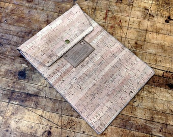 Cork and Wool Laptop Case
