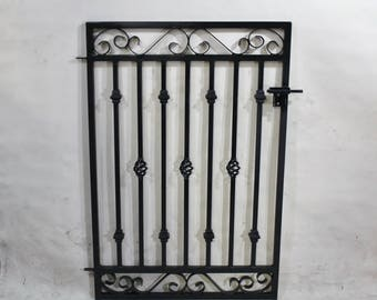 """Antique Style Custom Rectangle 37"""" wide x 42"""" tall Donovan Wrought Iron Gate"""