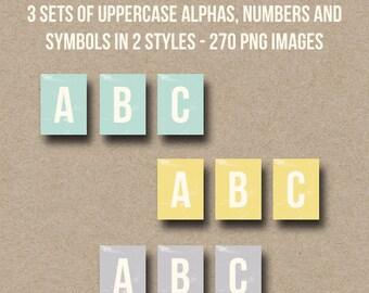 Teeny Tiny Alphas - Digital Alphabets