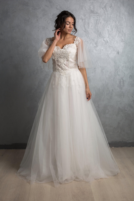 Hochzeitskleid Schneeflocke Tüll Brautkleid