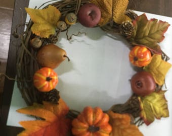 wreath for the spring and fall. If you like something else email me at maggiekalinowski@gmail.com and I will make what you would like me too