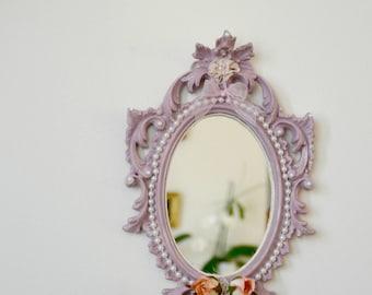 Shabby chic mirror, Pink Purple, Rococo