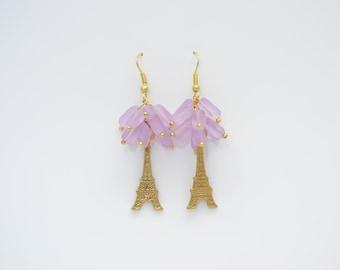 Golden Eiffel Tower earrings