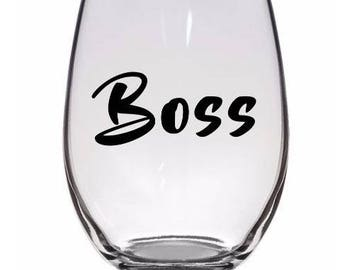 Boss Business Besitzer Pint Glas Wein Alkohol Tasse Becher Home Decor Bar Jenuine Handwerk