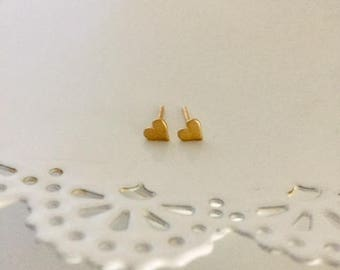 Gold Heart Earring | Tiny Gold Heart Stud Earring | Heart Stud Earring | Gold Stud Earring | Graduation Gift | Wedding Gift | Stud Earring
