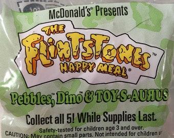 McDonalds Happy Meals Flintstones  Pebbles, Dino and Toy S Aurus 1994