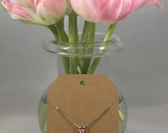 Chrysanthemum Necklace Light Pink