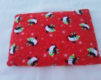 Penguin Heating Pad - Stress Relief - Microwave Neck Wrap - Pain Relief - Microwave Heating Pad - Flax Seed Heating Pad